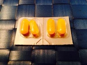 yellow caplets